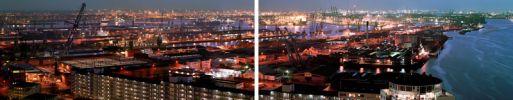 F00149HW  Port Of Rotterdam tweeluik: 2* 100-41 cm, endura on perspex/dibond (diasec matte), oplage 5